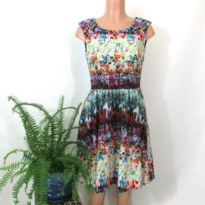 Cynthia Rowley Fit N Flare Floral Multicolor Dress